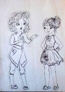 Megumi i Vivien szkic