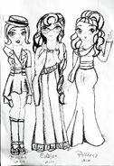 Toula, Callista i Polixena szkic