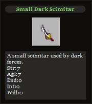 Small Dark Scimitar