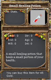Small healing potion