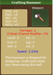 Crafting Hammer