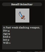 Small scimitar