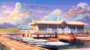 Ext boathouse sunset