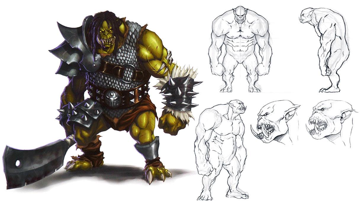 Female Orc Concept Art