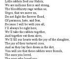 HABIT's Poem for Trial Four