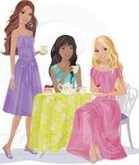 Barbie, nikki and terea teaparty