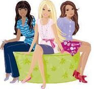 Barbie, nikki and teresa sitting