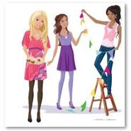 Barbie, nikki and teresa decorations