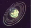 Ringed Ice Planet