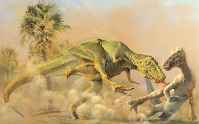 Rex vs Edmontosaurus