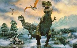 2 T-rexes
