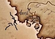 Map of anvil
