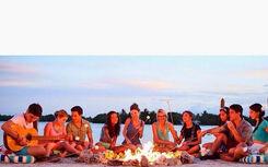 Beach Birthday Bash Bonfire pic 1 Jemma's next to each other