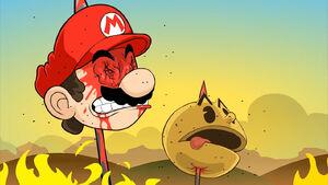 Racist Mario's defeat