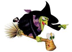 Gruntilda Winkybunion & her Broomstick