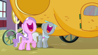Silver Spoon and Diamond Tiara malicious laughing