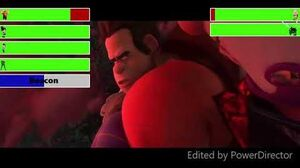 Wreck-It Ralph & Friends vs Turbo & Cy-Bugs With Healthbars