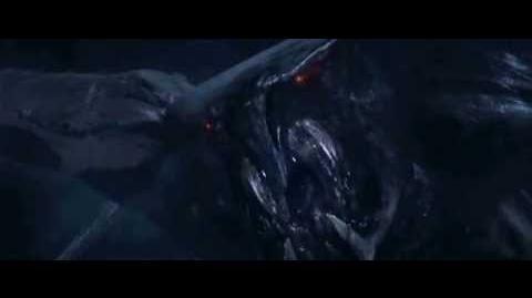 Godzilla zabija samicę M. U. T. O.