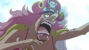Big Mom eats the wedding cake One Piece