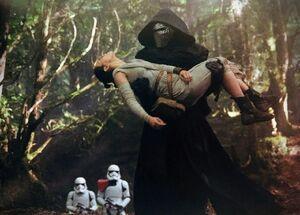 Kylo captures Rey