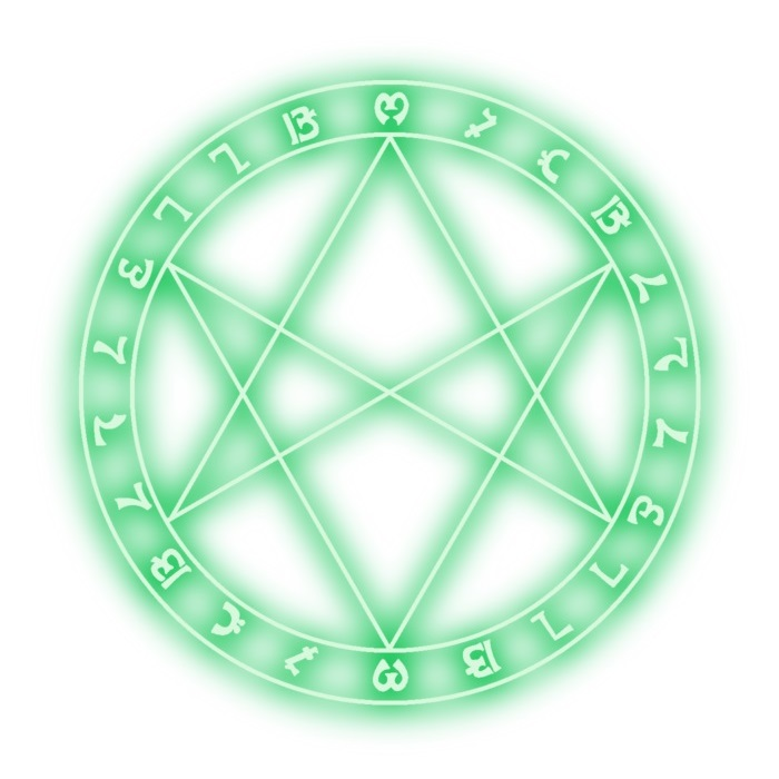 Unicursal hexagram symbol Royalty Free Vector Image