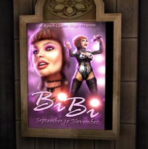 Jeden z plakatów z Bibi Love w Fortune City