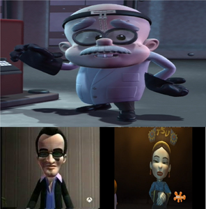Professor Calamitous' two forms
