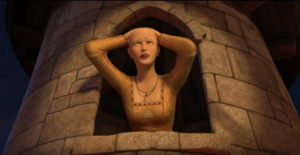 Rapunzel (Shrek)'s defeat after she is bald