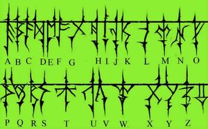 Gozerian Alphabet