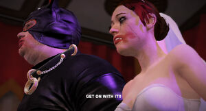 Randall zmuszający Danni do ślubu