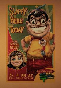 Jeden z plakatów z Brentem i Louise w Fortune City