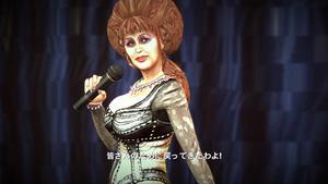 Bibi mówiąca do publiczności