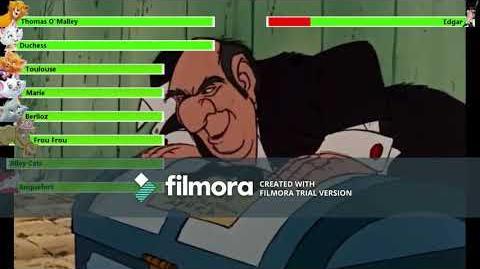 The Aristocats (1970) Final Battle with healthbars