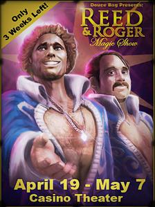 Jeden z plakatów z Reedem i Rogerem w Fortune City