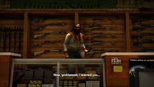 Cletus w swoim sklepie