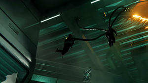 Doctor Octopus capturing Norman Osborn