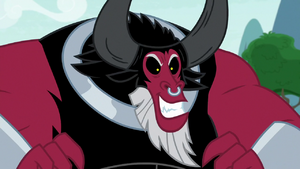 Tirek grinning with wicked confidence