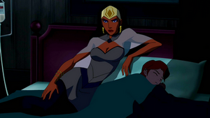 Queen Bee waits for Miss Martian