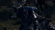Knight Artorias about to throw Bloat