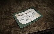 The Old Birthday Card