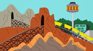 The Mine Shaft Roller Coaster