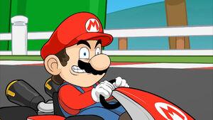Mario's evil grin