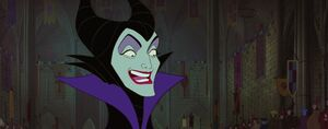 Maleficent laughing ironicaly - kmp