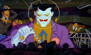 Joker robbing a bank