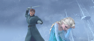 Elsa about to be killed by Hans