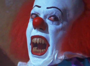 Pennywise attempting to kill Stan in front of the Losers Club