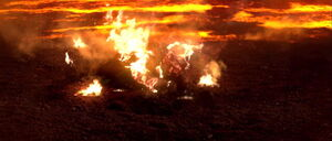 Darth Vader left to die on Mustafar
