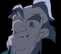 Professor Screweyes grinning evilly