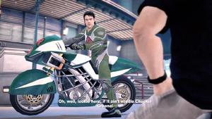 Leon Bell na swoim motorze