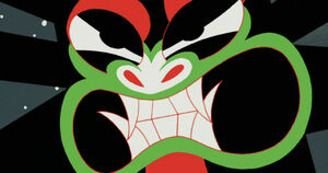 Aku facing Samurai Jack